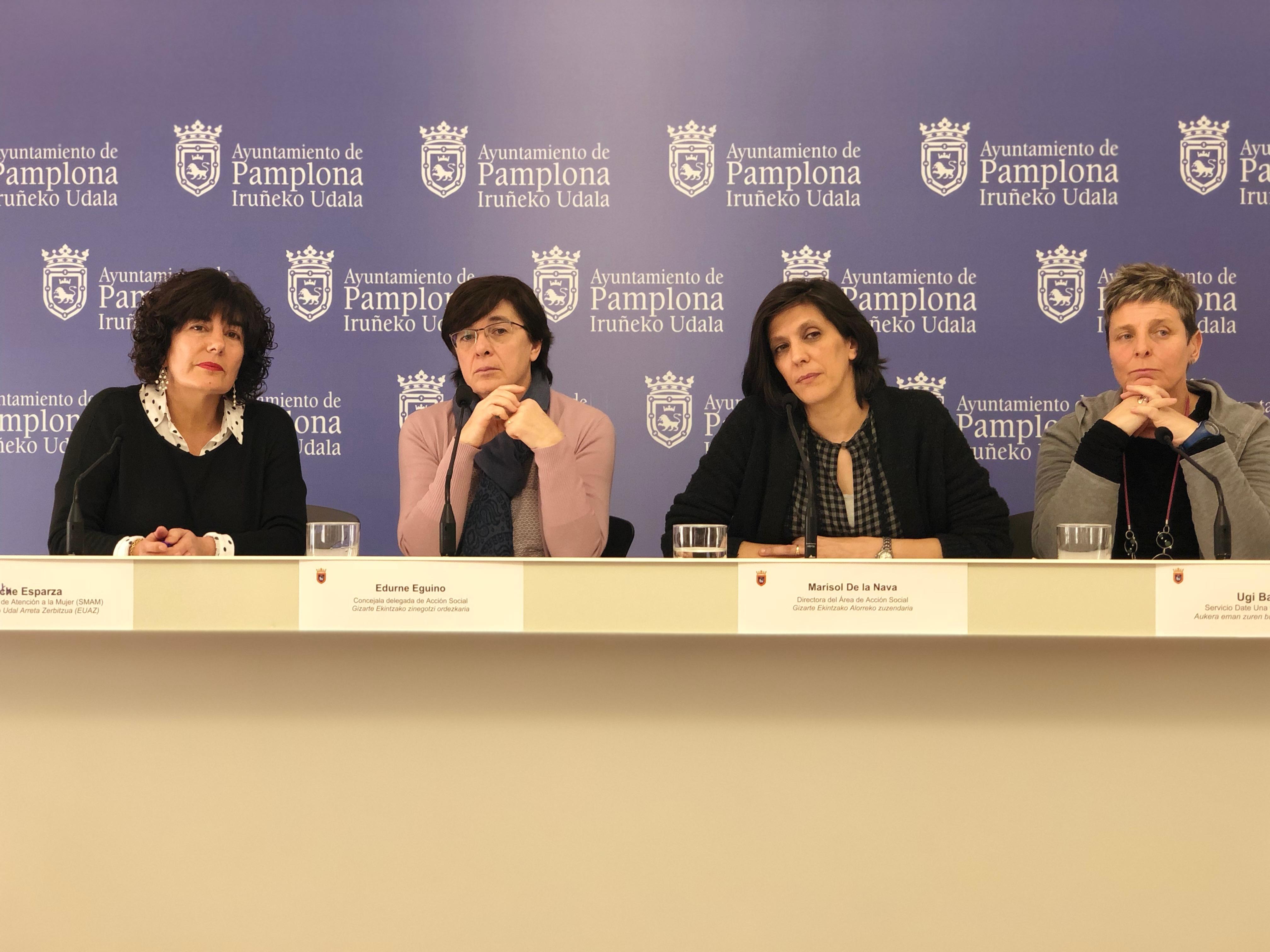Edurne Eguino presenta iniciativas de Acción Social en prevención de violencia de genero.