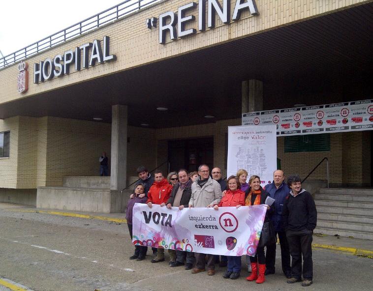Izquierda-Ezkerra, muestra su preocupación ante el incierto futuro de los laboratorios y del personal de los hospitales de Estella y Tudela