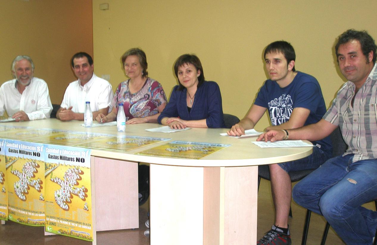Izquierda-Ezkerra apoya la marcha contra el polígono de tiro de Bardenas