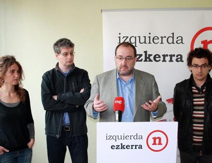 Izquierda-Ezkerra presenta doce propuestas realizables desde el primer día por un Gobierno de izquierdas