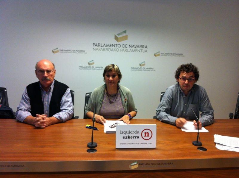 Izquierda-Ezkerra, insite en que se anule el proyecto del TAV Pamplona-Castejón y se opte por la tercera vía.