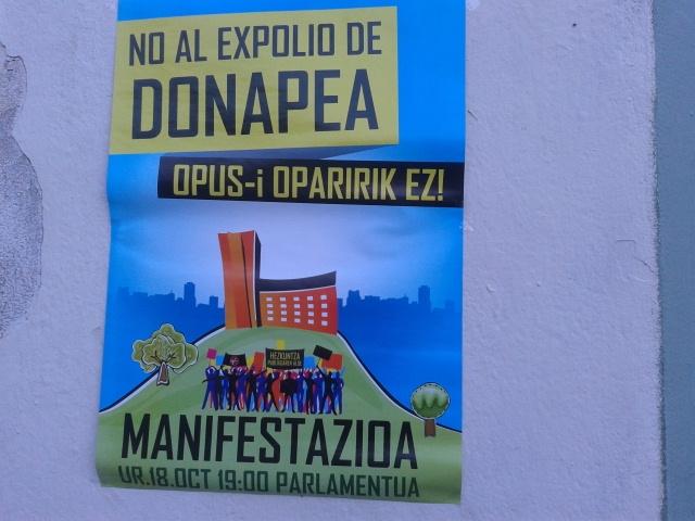 Apoyamos la manifestación contra el traslado del CIP Donapea