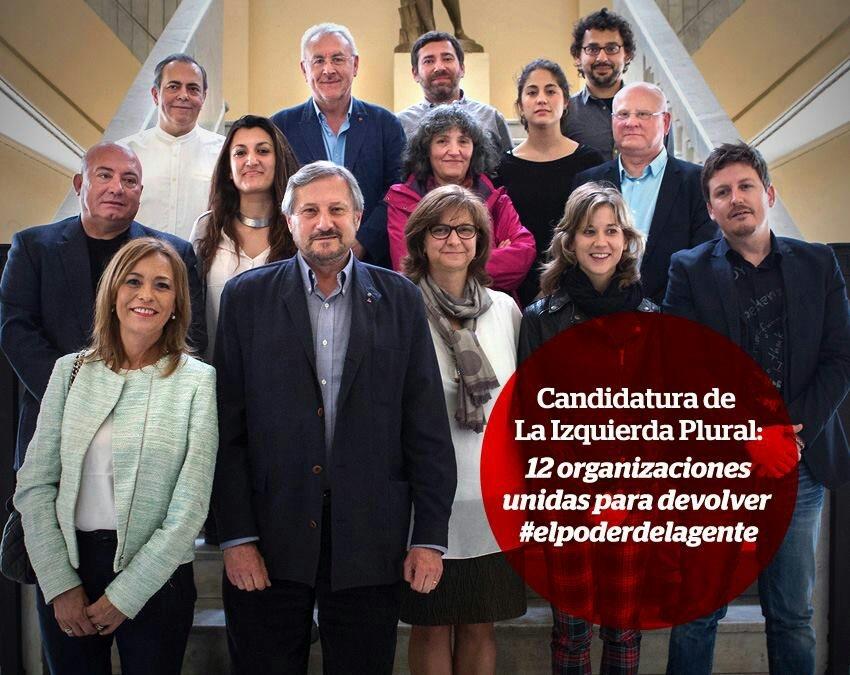 La coalición de la Izquierda Plural para las Europeas se presenta en Madrid.