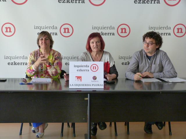 Izquierda-Ezkerra presenta el programa electoral con el que La Izquierda Plural concurre a las Europeas