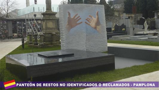 Inhumación de represaliados no identificados en el cementerio de Pamplona