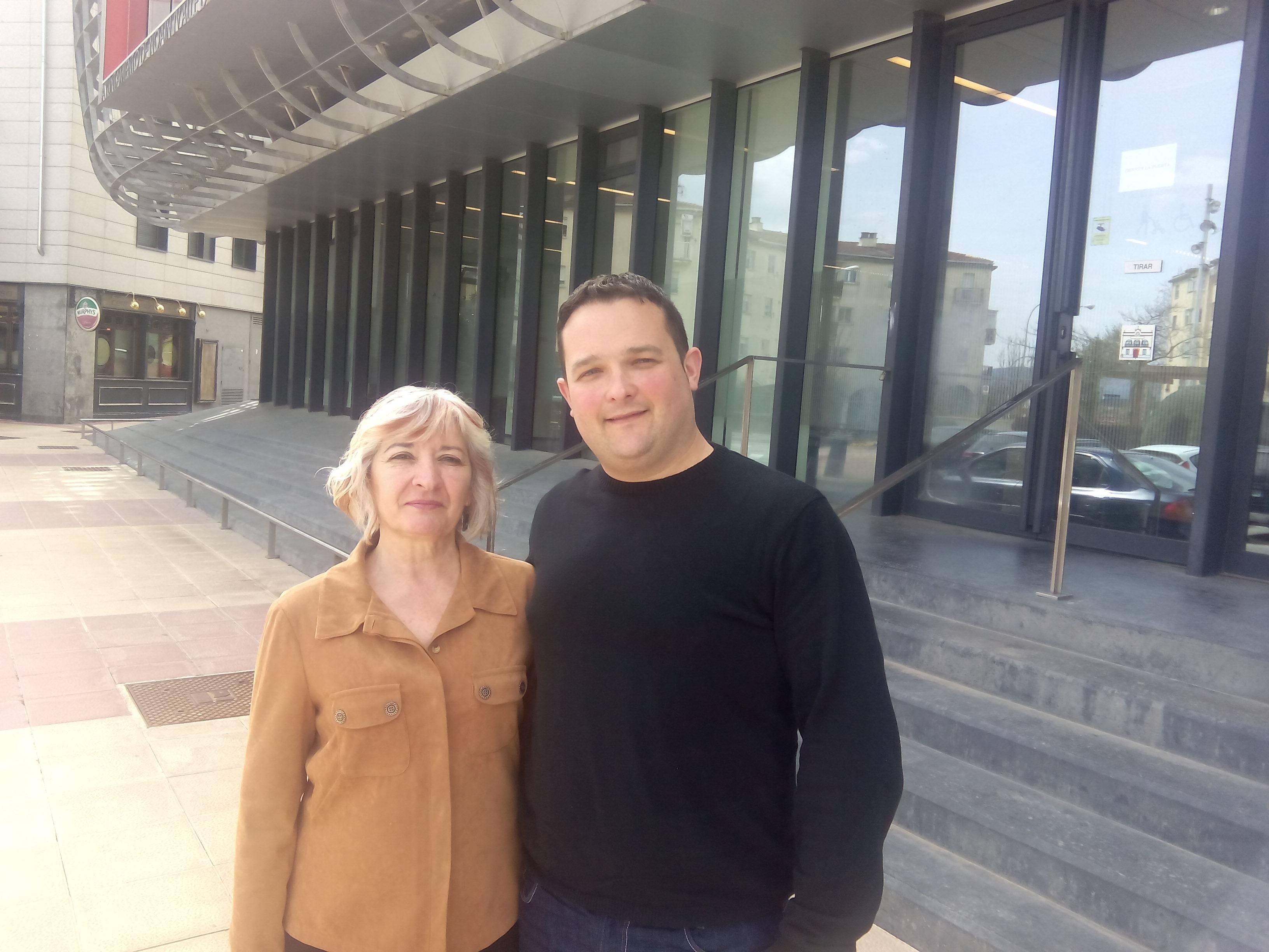 Nicolás Subirán y Julia Sanchez, cabezas de lista de IE en Noain