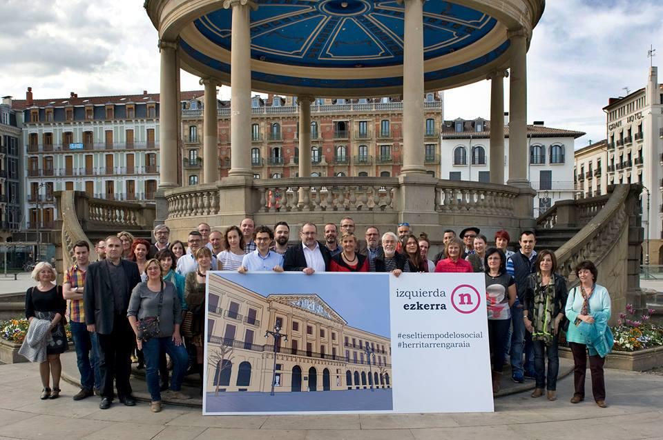 Presentación de la candidatura de Izquierda-Ezkerra para el Parlamento de Navarra
