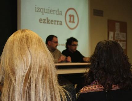 IU y Batzarre presentan en la UPNA la coalición electoral Izquierda-Ezkerra